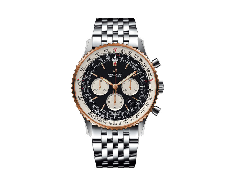 Breitling Navitimer In Steel And Rose Gold